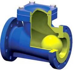 Клапан обратный с шаром Ду200/ 8 Ру10 фланцевый