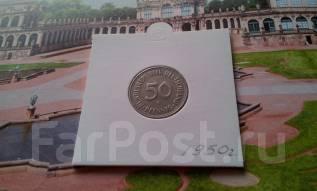 ФРГ. 50 пфеннигов 1950 года. G.