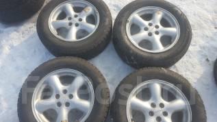 Продам комплект японских колес на литье Субару 215/60/16. 6.5x16 5x100.00 ET48