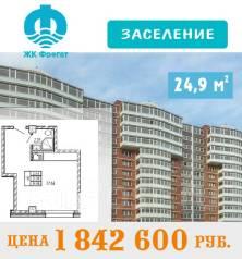 1-комнатная, улица Ватутина 4д. 64, 71 микрорайоны, застройщик, 24 кв.м.