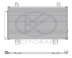КОНДЕНСАТОР КОНДИЦ (KOYO) LEXUS GS300/430 (05-) GS300