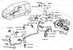 Трубка кондиционера. Toyota Alphard, MNH15W, ANH15, MNH15, MNH10, ANH10 Двигатели: 1MZFE, 2AZFE