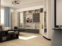 1-комнатная, улица Светлогорская 15/1. 9 км, агентство, 42 кв.м. Дизайн-проект