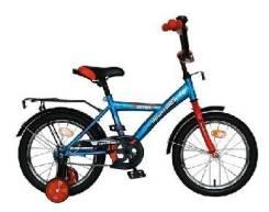 """Велосипед 14"""", ASTRA синий, защита А-тип, крылья и багажник хром. (2015)"""