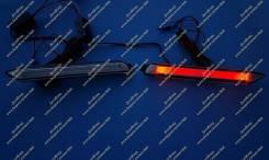 Неоновые катафоты в бампер Ipsum (фонари Ипсум) 01-09г. Белые. Toyota Ipsum