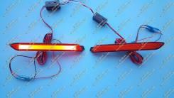Неоновые катафоты в бампер Ipsum (фонари Ипсум) 01-09г. Красные. Toyota Ipsum