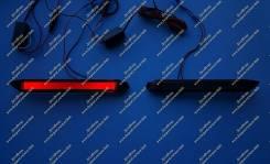 Неоновые катафоты в бампер Ipsum (фонари Ипсум) 01-09г. Дымчатые. Toyota Ipsum