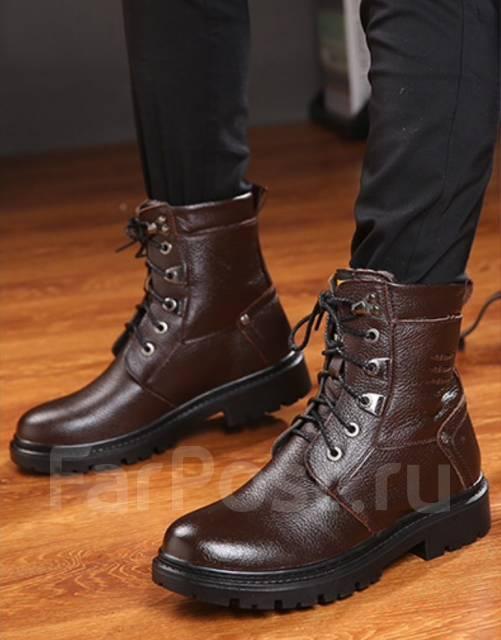 02dc96e4 Мужские зимние ботинки Коричневые - Обувь во Владивостоке