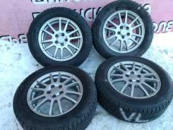 """Комплект литья """"Weds"""" на зиме Bridgestone 195/65R15. 6.0x15 5x100.00 ET43"""