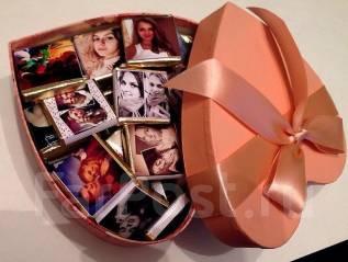 Шоколадные наборы с вашим фото на ДЕНЬ Влюбленных!