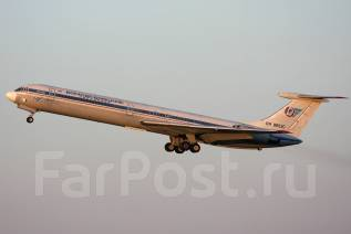 Сборная модель самолёта ИЛ-62 1/144 Звезда + декаль Домодедово