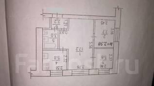 3-комнатная, Тополево , Школьная 4. Железнодорожный, агентство, 43 кв.м.