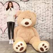 Большой плюшевый медведь Американец 1.7 м 517 шт цвет белый