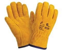 Перчатки спилковые утепленные 0128