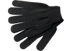 Перчатки х/б черные искусс.шерсть