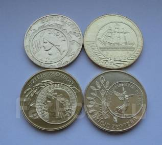 Польша, 2 злотых, Набор История злотого, 4 монеты