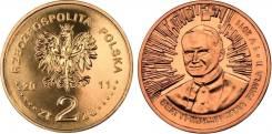 Польша, 2 злотых 2011 Беатификация Иоанна Павла II