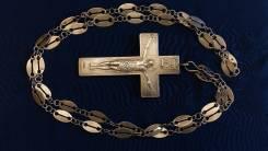 Наградной наперсный павловский крест. Серебро 84 пр. Москва, нач.1900х. Оригинал
