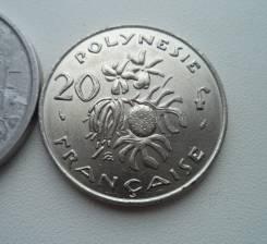 Французская Полинезия, 20 франков 1975