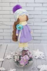 Интерьерная текстильная кукла. Под заказ