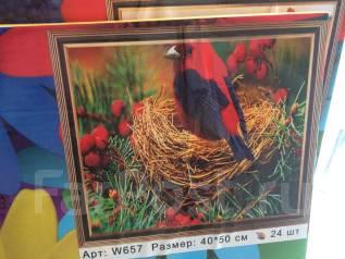 Картина по номерам птица!