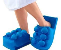 """Плюшевые тапочки """"Лего"""""""