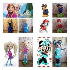 Мультяшные фигуры из воздушных шаров для ваших деток и не только