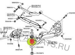 Сайлентблок подвески. Nissan X-Trail, T31, NT31, DNT31, TNT31 Nissan Dualis, KNJ10, KJ10, NJ10, J10 Nissan Qashqai+2 Nissan Qashqai Двигатели: QR25DE...