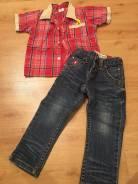Рубашки джинсовые. Рост: 86-98, 98-104 см