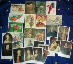 Приму в дар открытки, детские книги и многое другое.