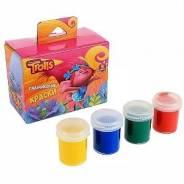 """Набор пальчиковых красок """"Тролли"""", 4 цвета"""