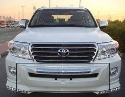 Накладка на бампер. Toyota Land Cruiser, VDJ200, URJ202. Под заказ