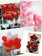 Красивые яркие гелиевые сердечки для любимых.