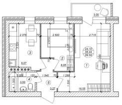 2-комнатная, ул.Воронежская. агентство, 39 кв.м.