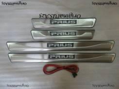 Накладка на порог. Toyota Prius, ZVW35, ZVW30, ZVW30L Двигатель 2ZRFXE