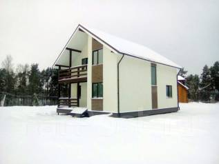 Новый двухэтажный дом в развивающемся посёлке. Круговая 35, р-н пос. Новый, площадь дома 172 кв.м., централизованный водопровод, электричество 15 кВт...