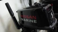 Nissan Marine. 5,00л.с., 2х тактный, бензин, нога S (381 мм), Год: 2015 год