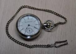 Карманные часы Elgin 1896 года. С цепочкой. Прикоснись к истории!. Оригинал