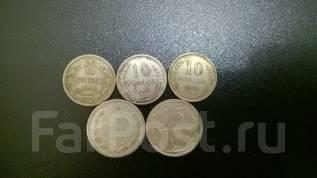 10 копеек 1923, 1924, 1925 + 15 копеек 1923, 1925 гг.