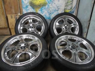 Продам Модный Крутой Хром Work Euroline+Лето225/45R18Toyota, Nissan, HON. 7.5x18 5x114.30 ET47