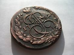 Редкая Колыванская Медь! Екатерининские 5 Копеек 1782 год КМ! Россия 23