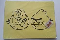 Трафарет с цветным песком #1 Angry birds