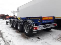 Steelbear. Четырехосный полуприцеп-контейнеровоз , под наливник, 42 000 кг.