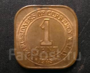 1 цент Малайя 1945г.