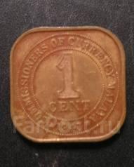 1 цент Малайя 1943 г.