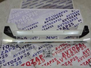 Губа передняя Modellista для Toyota LС Prado 150 с диодами Белый перл. Toyota Land Cruiser Prado