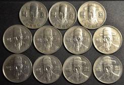 Южная Корея, 100 вон погодовка