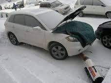 Отогрев авто.