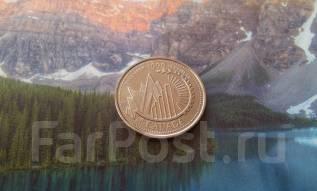 Канада. Юбилейные нечастые 25 центов 1999 г. Декабрь, это Канада.