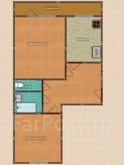 2-комнатная, улица Маяковского 12. пос. Раздольное, частное лицо, 52 кв.м.